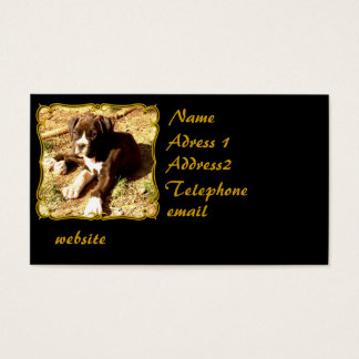 Brindle boxer puppy business card
