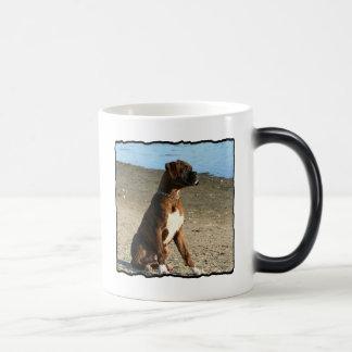Brindle Boxer puppy mug