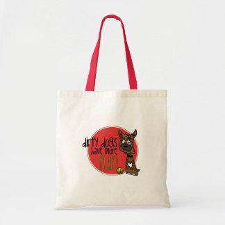 Brindle Boxer -Red Logo Bag