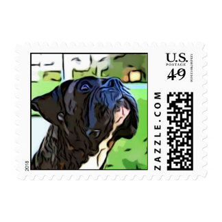 Brindle Boxer small stamps