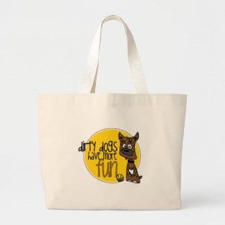 Brindle Boxer -Yellow Logo Bag