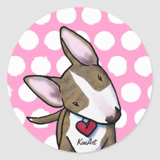 Brindle Bully Round Stickers
