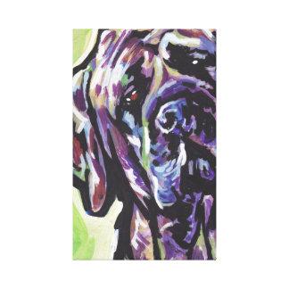 Brindle English Mastiff Canvas Wrapped Pop Art