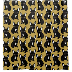 Brindle French Bulldog Shower Curtain