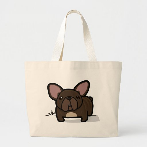 Brindle Frenchie Canvas Bag