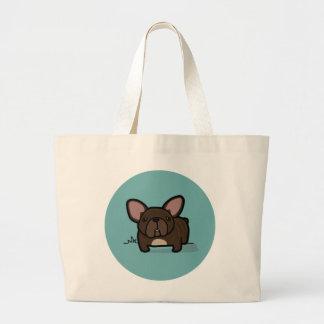 Brindle Frenchie Jumbo Tote Bag