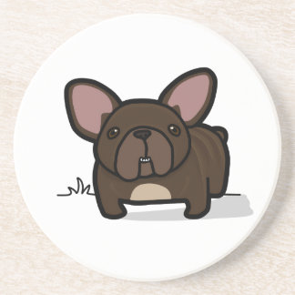 Brindle Frenchie Drink Coaster