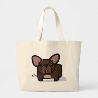Brindle Frenchie Large Tote Bag