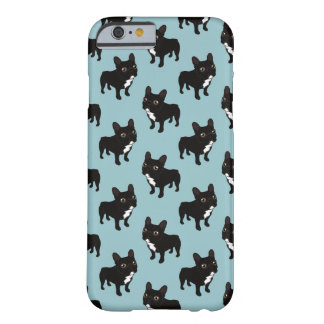 Brindle Frenchie likes to go for a walk Barely There iPhone 6 Case