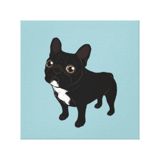 Brindle Frenchie likes to go for a walk Canvas Print
