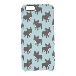 Brindle Frenchie likes to go for a walk Clear iPhone 6/6S Case