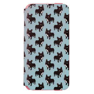 Brindle Frenchie likes to go for a walk iPhone 6/6s Wallet Case
