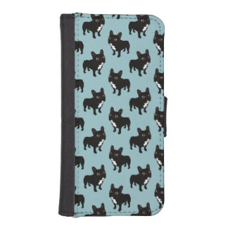 Brindle Frenchie likes to go for a walk Wallet Phone Case For iPhone SE/5/5s