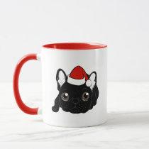 Brindle Frenchie loves Christmas season Mug