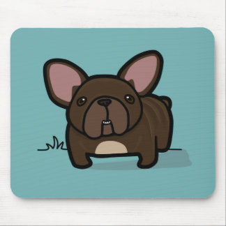 Brindle Frenchie Mouse Pad