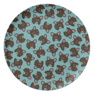 Brindle Frenchie Plate