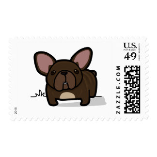 Brindle Frenchie Stamp