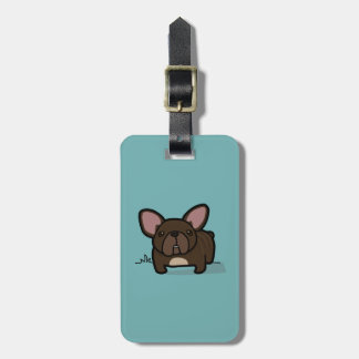 Brindle Frenchie Tags For Luggage