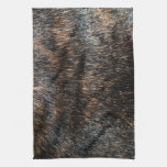 Brindle Fur Like Texture Image Kitchen Towel