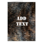 Brindle Fur Texture Camouflage Card