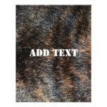 Brindle Fur Texture Camouflage Custom Flyer