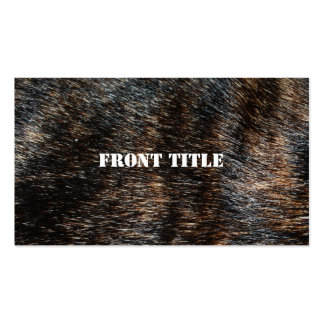 Brindle Fur Texture Camouflage Double-Sided Standard Business Cards (Pack Of 100)