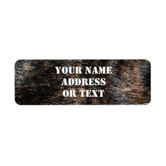 Brindle Fur Texture Camouflage Custom Return Address Labels