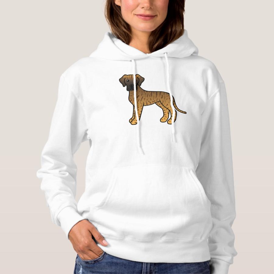 Brindle Great Dane Cute Cartoon Dog Hoodie - Creative Long-Sleeve Fashion Shirt Designs