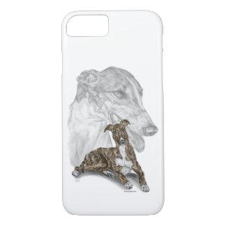 Brindle Greyhound Dog Art iPhone 8/7 Case