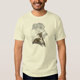 Brindle Greyhound Dog Art Tee Shirt