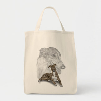 Brindle Greyhound Dog Art Tote Bag