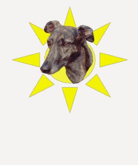 Brindle Greyhound Face Dog Shirt