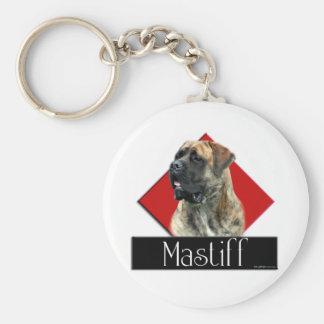 Brindle Mastiff Diamond Keychain