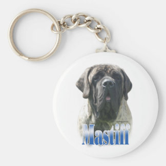 Brindle Mastiff Name Keychain