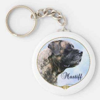Brindle Mastiff Portrait Keychain