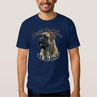 Brindle Mastiff Punish the Deed T-Shirt