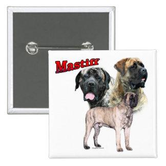 Brindle Mastiff Trio Button
