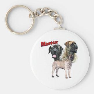 Brindle Mastiff trio Keychain