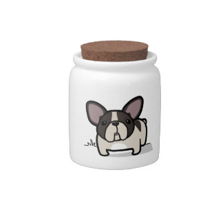 Brindle Pied Frenchie Candy Jar