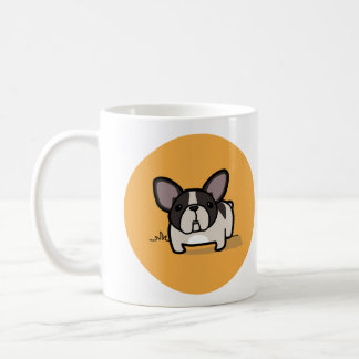 Brindle Pied Frenchie Classic White Coffee Mug