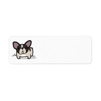 Brindle Pied Frenchie Custom Return Address Labels