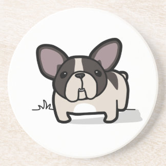 Brindle Pied Frenchie Drink Coaster