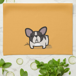 Brindle Pied Frenchie Hand Towel