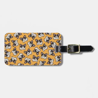 Brindle Pied Frenchie Tags For Luggage