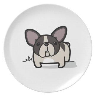 Brindle Pied Frenchie Melamine Plate