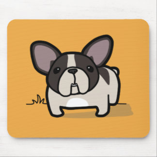 Brindle Pied Frenchie Mouse Pad