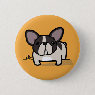 Brindle Pied Frenchie Pinback Button