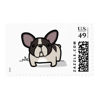 Brindle Pied Frenchie Postage Stamp