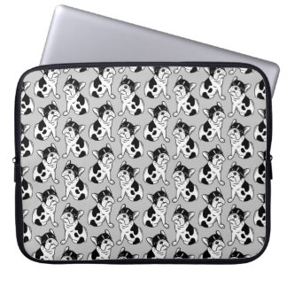 Brindle Pied Frenchie Puppy Laptop Sleeve
