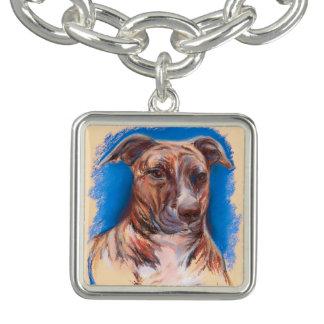 Brindle Pit Bull Dog Bracelet